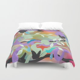 Black Butterflies Duvet Cover