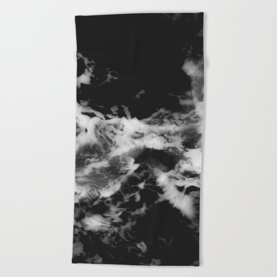 Waves of Marble Beach Towel