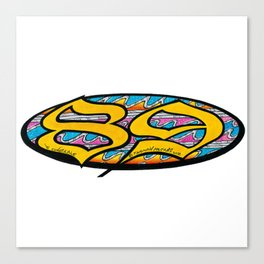 Back to 89 Canvas Print
