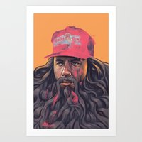 forrest gump Art Prints featuring Forrest Gump by David Belliveau
