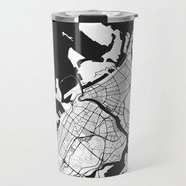 Dubai City Map Gray Travel Mug