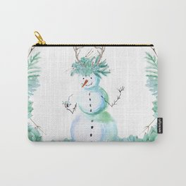 SNOWMAN PARTY ANIMAL Carry-All Pouch