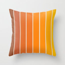 Gradient Arch - Vintage Orange Throw Pillow