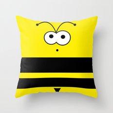 Minimal Bee Throw Pillow