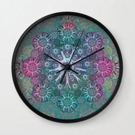 """""""Mint & Rose Mandala (pattern)"""" Wall Clock"""