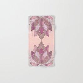 Elegant Glamorous Pink Rose Gold Lotus Flower Hand & Bath Towel