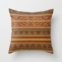 navajo Throw Pillows featuring Navajo  by Terry Fan