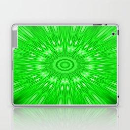 Green Mandala Explosion Laptop & iPad Skin