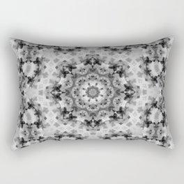 Black and white Persian carpet 1 Rectangular Pillow