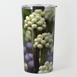 Green Aralia Flowers Travel Mug