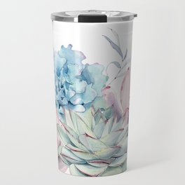 Pretty Pastel Succulents Travel Mug