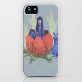 fairy and kitten iPhone Case