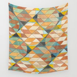 Triangles and Circles Pattern no.23 Wall Tapestry