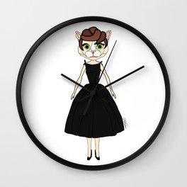 Audrey Cat Wall Clock
