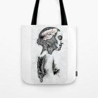 black swan Tote Bags featuring Swan by JsR_OtR