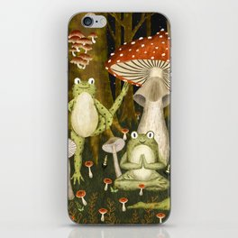 mushroom forest yoga iPhone Skin
