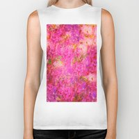 shabby chic Biker Tanks featuring Pink and Red Vintages Roses So Shabby Chic by Saundra Myles