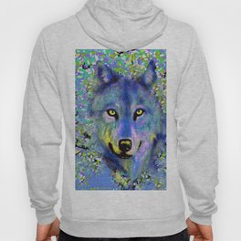 WOLF in the Garden Blue and Yellow Delight Hoody