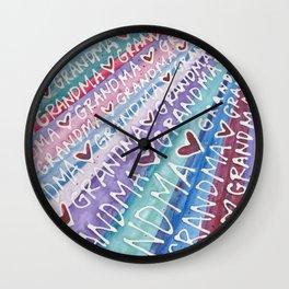 Grandma Love Wall Clock