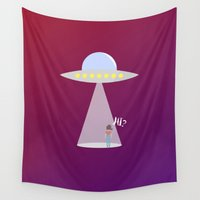 ufo Wall Tapestries featuring UFO by adovemore