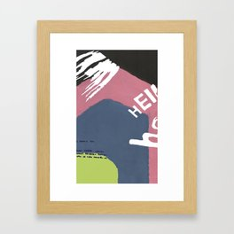Jumble of Letters Framed Art Print