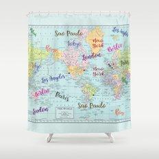 Fashion Capitals Shower Curtain