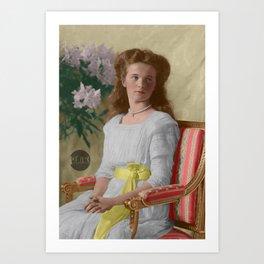 Olga Nikolaevna, 1910 - Colorized Art Print