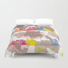 """the wolf in the town"" Duvet Cover"