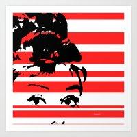 audrey Art Prints featuring Audrey by Heaven7