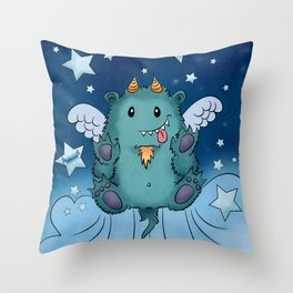Twinkle Toes the Happy Chaos Monster Throw Pillow