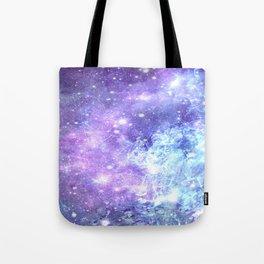 Grunge Galaxy Lavender Periwinkle Blue Tote Bag