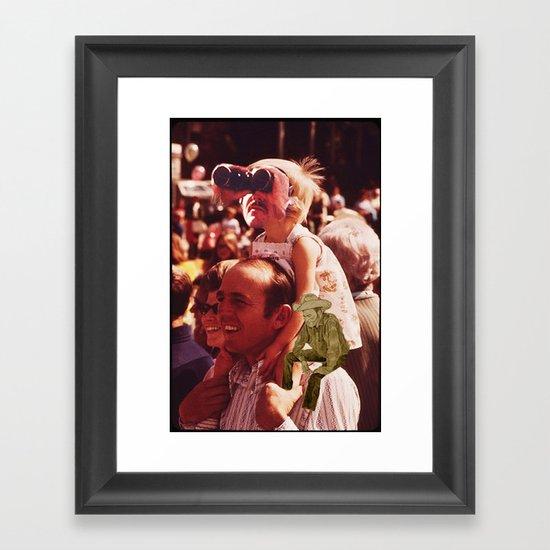 Friends At A Parade Framed Art Print