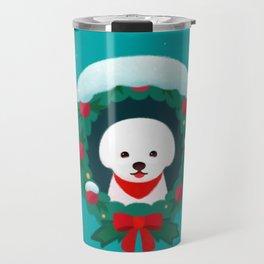 Christmas Bichon Travel Mug