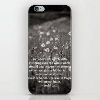 roald dahl iPhone & iPod Skins featuring roald dahl's magic by lissalaine