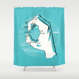 A Handy Map of The Bay Shower Curtain