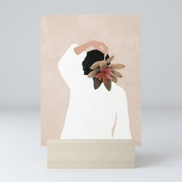 With a Flower Mini Art Print