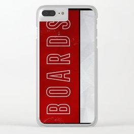 BOARDS B GRUNGE BG Clear iPhone Case