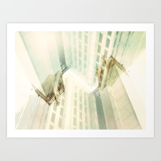 And this is what I see from here Art Print
