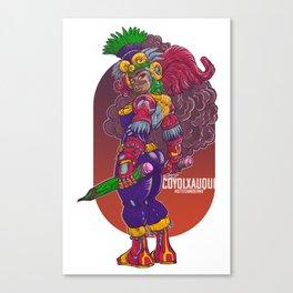 Coyolxauqui, Azteca Moderno 2019 Canvas Print