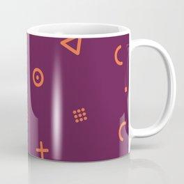 Happy Particles - Dark Red Coffee Mug