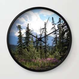 For Spacious Skies :: Purple Mountains Majesty Wall Clock