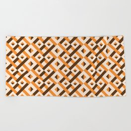 Peach Maze Beach Towel