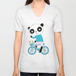 Panda bike Unisex V-Neck
