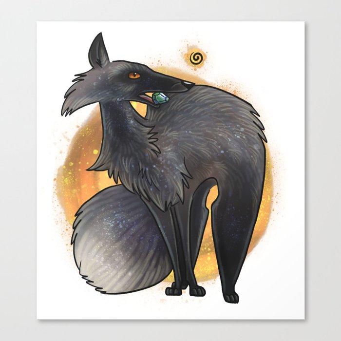 Silver Fox Canvas Print