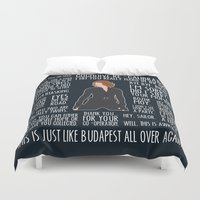 black widow Duvet Covers featuring Black Widow by MacGuffin Designs