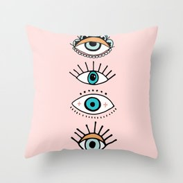 eye illustration print Throw Pillow