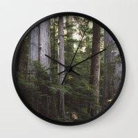 giants Wall Clocks featuring Among Giants by Frances Dierken