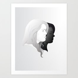 Lydia and Allison in Profile Art Print
