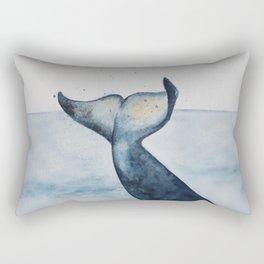 Whale's Tail Rectangular Pillow