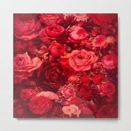 rose print Metal Print